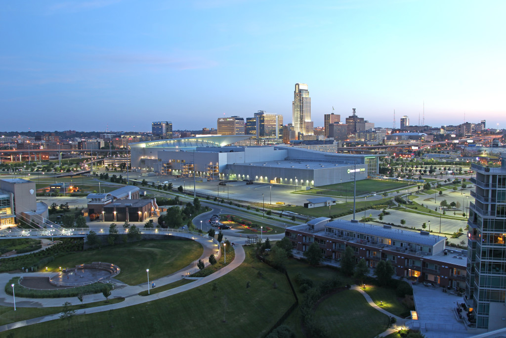 HOWARD K. MARCUS/THE WORLD-HERALD The north tower of Riverfront Place offers a commanding view of the Omaha skyline.