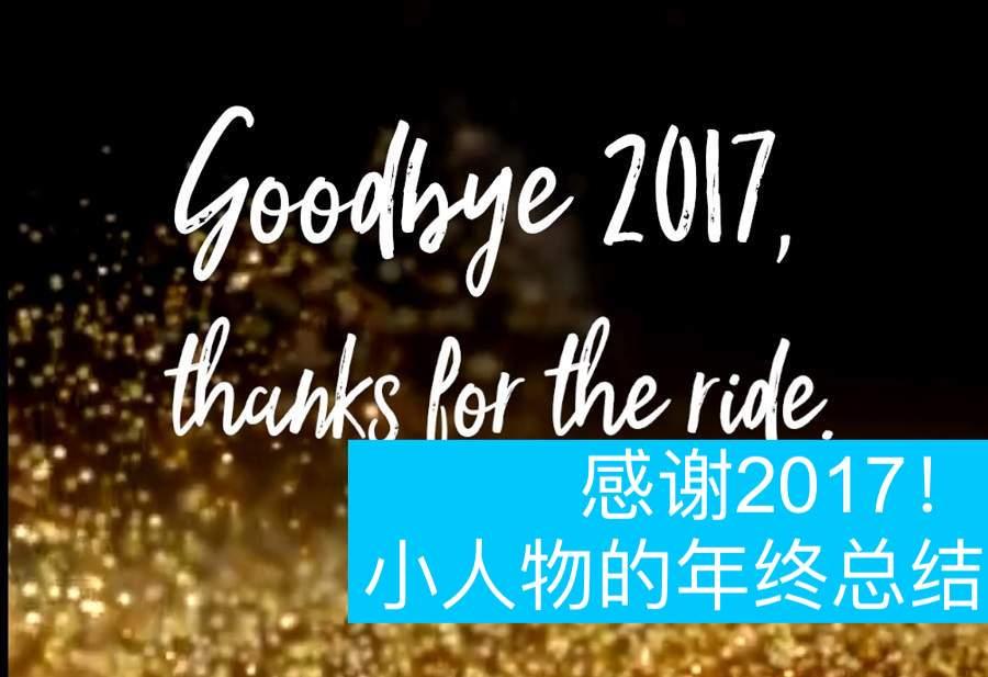 感谢2017!小人物的年终总结